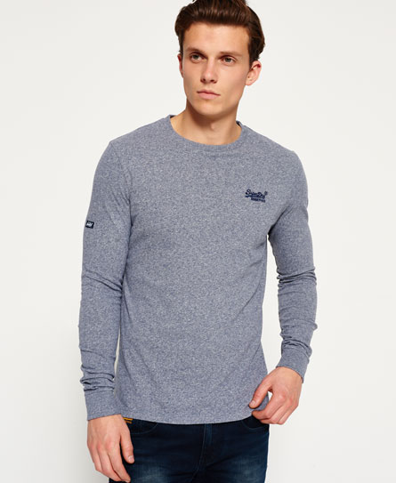 super state blue grit Superdry Orange Label Cuffed T-shirt