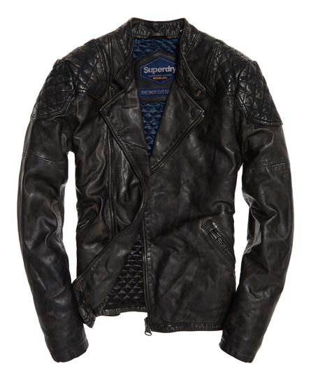 Superdry Endurance Indy Custom Leather Jacket
