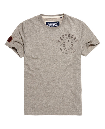 oatmeal grey jaspe Superdry Expedition T-shirt