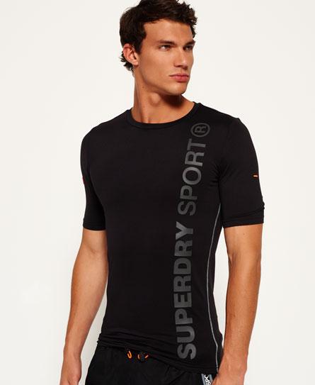 black Superdry Sports Athletic T-shirt