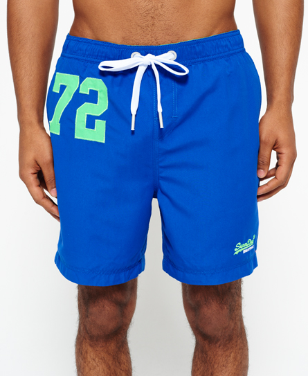 royal blue Superdry Premium Water Polo Shorts