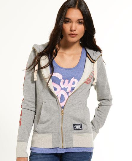 Superdry Pommel Zip Hoodie Grey