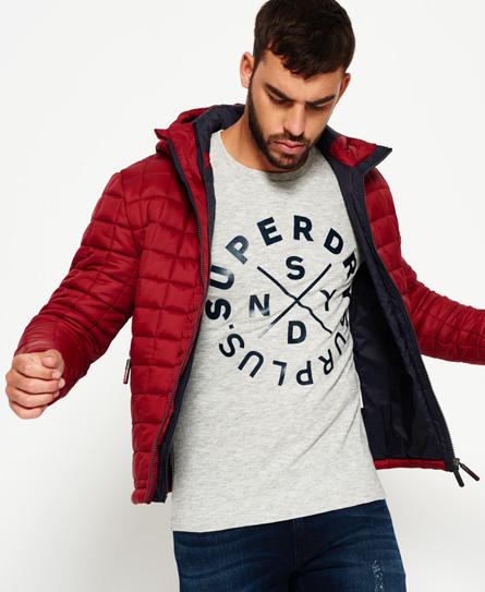 Superdry Superdry Box Quilt Fuji jakke med hætte