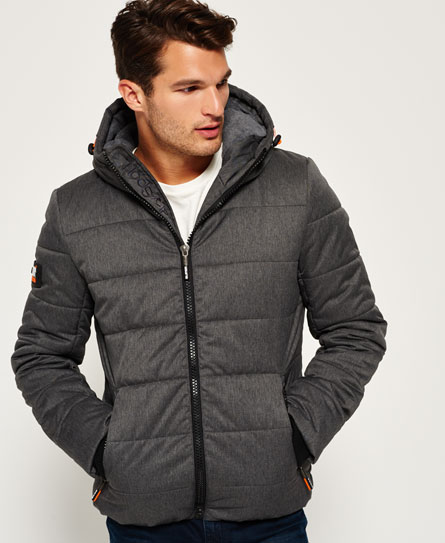 black marl Superdry Sports donsjack