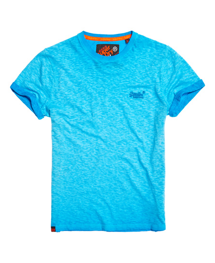 Colour: Worn Orange. Superdry Low Roller T-shirt