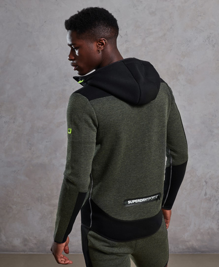 Superdry Gym Tech Blocked Zip Hoodie