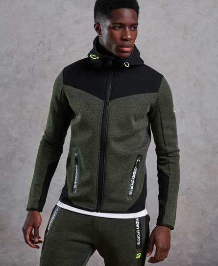 Superdry Gym Tech Kapuzenjacke mit Farbblock-Design