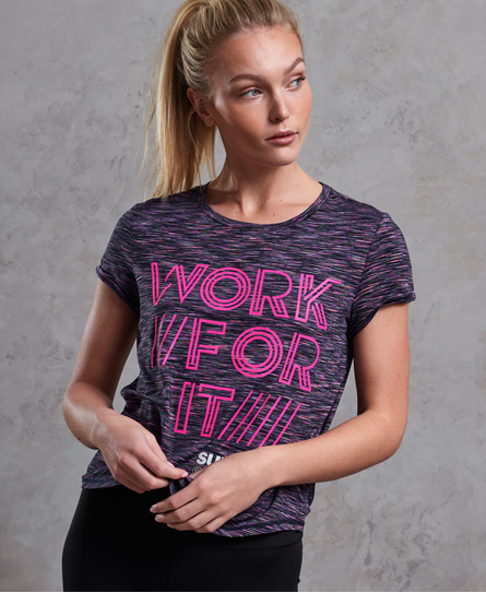 Superdry Superdry SD Sport Fitspiration Ombre T-shirt
