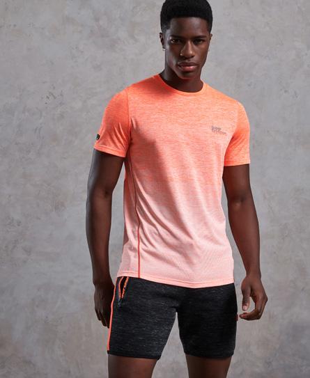 Superdry Active T-Shirt mit Farbverlauf und Sprenkelmuster