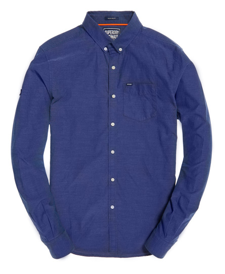 Mens pinpoint oxford shirt in french blue superdry for French blue oxford shirt