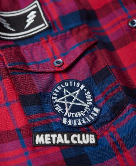 Superdry Badged Boyfriend blouse zonder mouwen
