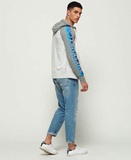 Superdry Cali Stripe Lite Raglan Zip Hoodie