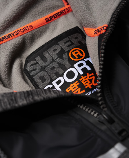 Superdry Training Hybrid Zip Hoodie