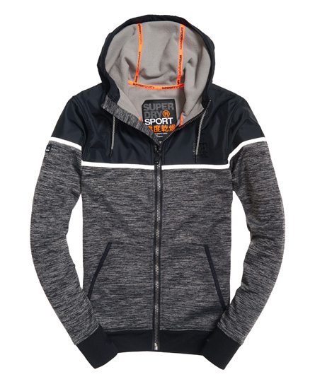 superdry hybrid trainings kapuzenjacke herren hoodies. Black Bedroom Furniture Sets. Home Design Ideas