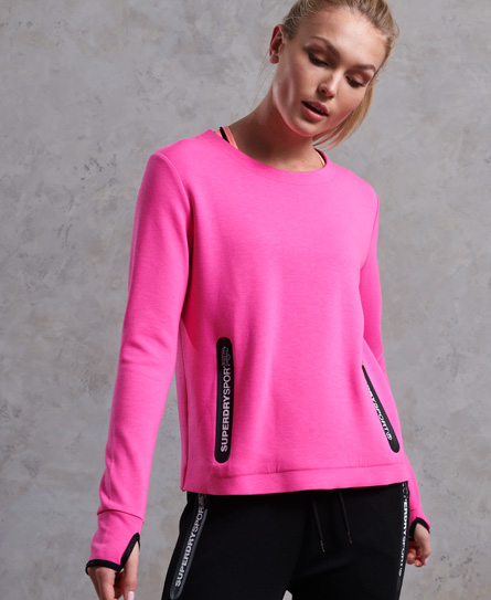 Superdry SD Sport Gym Tech Luxe Rundhalspullover