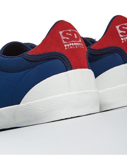 Tribunal Des Baskets Vintage Superdry Bleu Foncé in8FblN