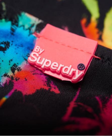 Superdry Bikinihöschen zum Binden mit Regenbogen-Palmen