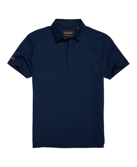 Superdry Premium Textured Jersey Polo Shirt