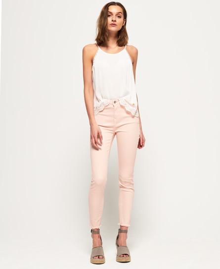 Superdry Sophia Röhrenjeans | Bekleidung > Jeans | Pink | Material: baumwolle 98%|elastan 2%| | Superdry