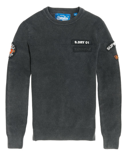 Superdry Athletic Badged Crew Jumper