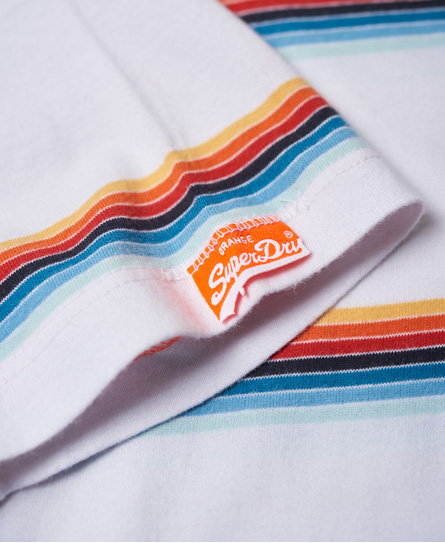 Superdry Orange Label Cali Surf Stripe-T-skjorte