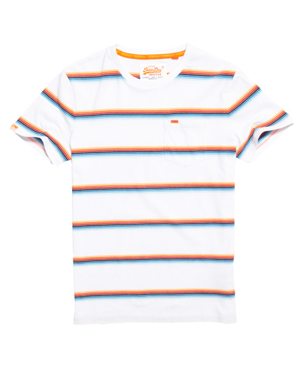 Superdry Superdry Orange Label Cali Surf stribet T-shirt