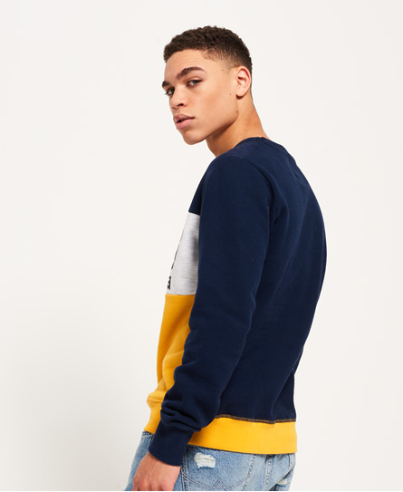 Superdry Vintage Logo Panel Crew Sweatshirt