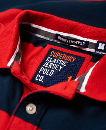 Superdry Louder Stripe Short Sleeve Polo Shirt
