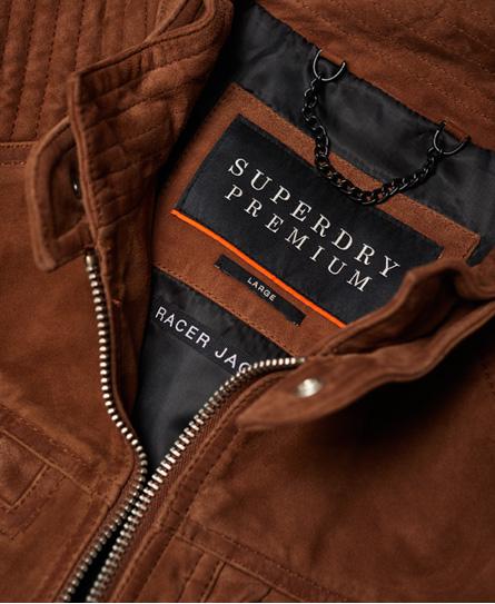 Superdry Premium Suede Racer jas