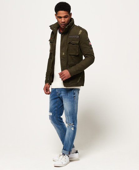 Low Price For Sale Rip & Repair Rookie Military Jacket Superdry Free Shipping Browse Outlet Locations Cheap Price Pre Order Get Online 0CBa9n