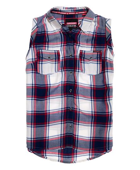 Superdry Boyfriend blouse zonder mouwen