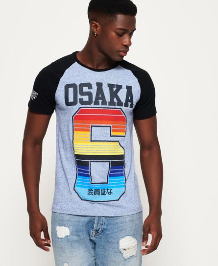 Superdry - Camiseta con mangas raglán Osaka Cali Strip - 2