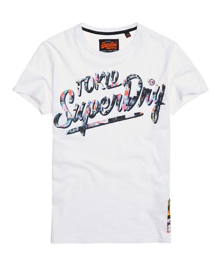 Superdry Superdry Langærmet Ticket Type T shirt med grafik