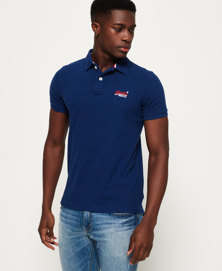 Superdry CLASSIC - Polo - sonix blue grit 2a8hhhUVYD
