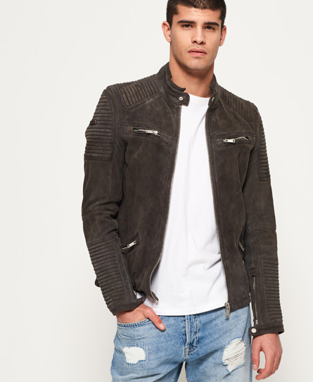 Premium Suede Racer Jacket by Superdry