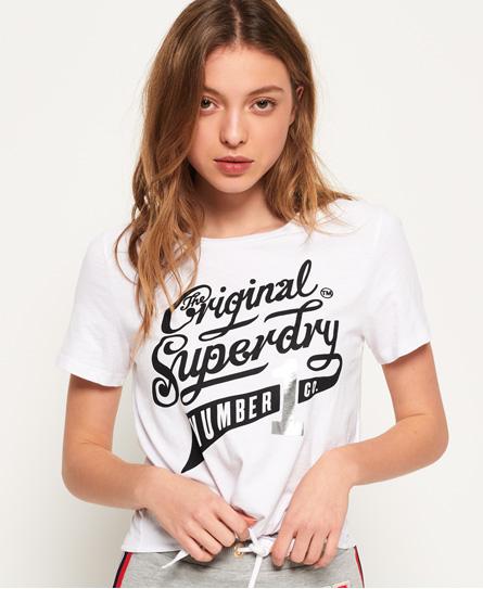 Superdry Superdry Skate Park T-shirt med knude foran