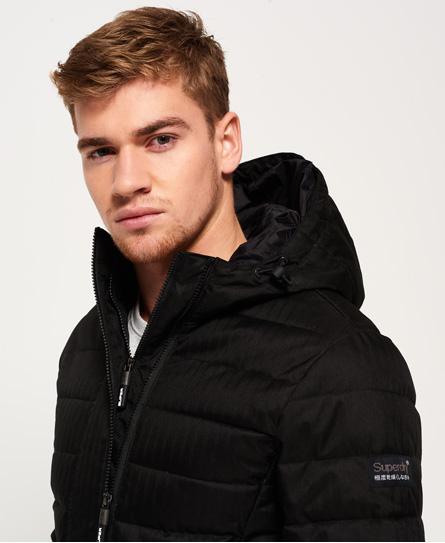 Superdry Tweed Fuji jas met dubbele rits en capuchon