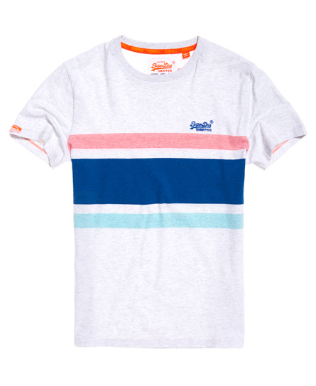 Superdry Superdry Orange Label Hardwick Stripe T-shirt