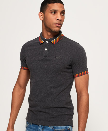 Se Superdry Superdry Classic Cali Tipped poloshirt ved SuperDry
