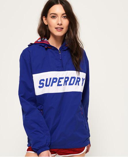 Superdry Superdry SD-Windbreaker jakke med hætte og kort lynlås