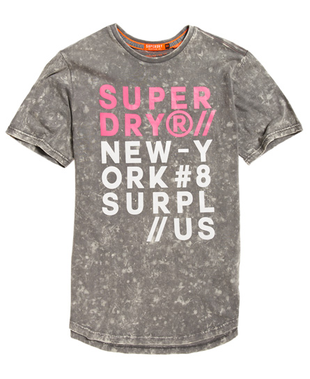 Surplus Goods Longline Graphic T-Shirt Superdry Shopping Online Cheap Online Xk2biILx7g
