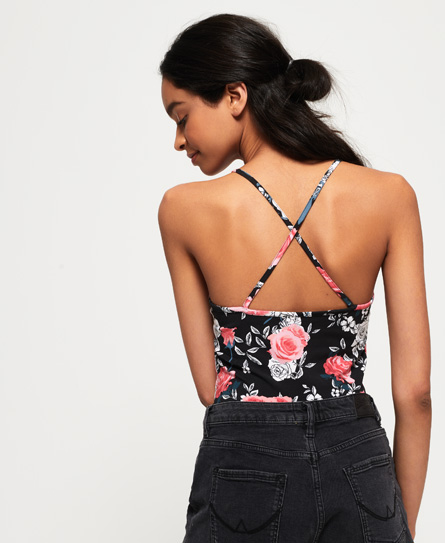 New Styles For Sale Cheap Sale Outlet Locations Strappy All Over Print Bodysuit Superdry mUYg4N9