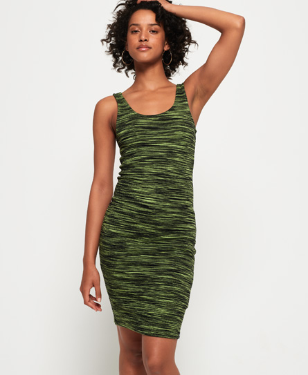 Superdry Vacation Bodycon jurk met strepen groen