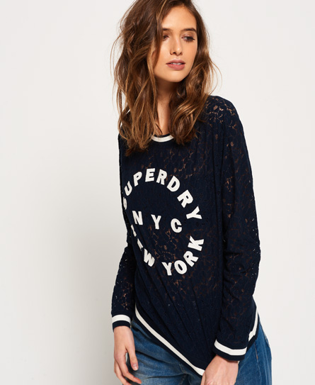 Superdry Superdry Lace Tipped ribtop