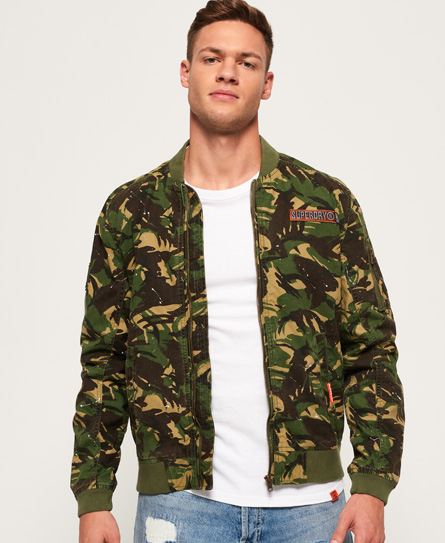 Rookie Duty Splatter Bomber Jacket