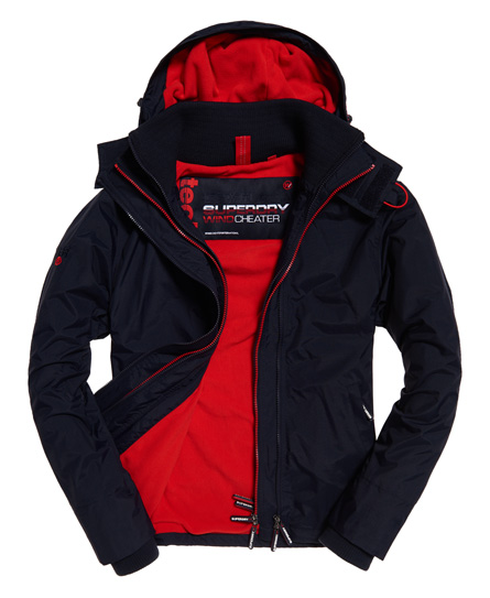Arctic Hooded Pop Zip Sd Windcheater Jacket by Superdry