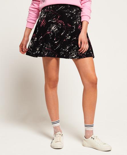 Superdry Superdry Rydell nederdel med print
