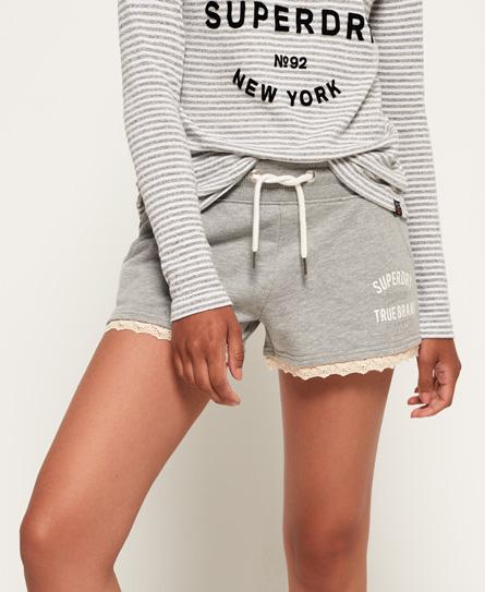 Superdry Superdry Addison shorts med blondekant