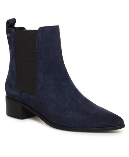 Superdry Hohe Zoe Quinn Chelsea-Stiefel | Schuhe > Stiefel > Sonstige Stiefel | Marineblau | Obermaterial: leder 100%| innenfutter: baumwolle 90%|polyurethan 10%| sohle: gummi 100%| | Superdry