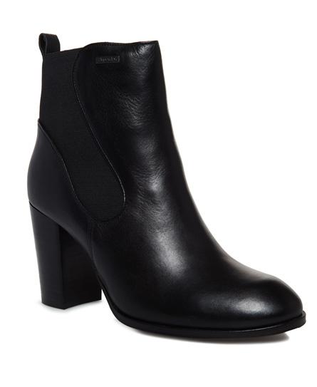 Se Superdry Superdry Fleur chelsea boots med hæl ved SuperDry